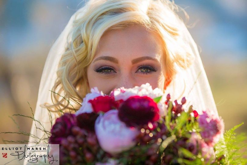 Wedding look for blond