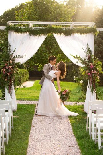 This wedding took place in a beautiful garden at Antrim 1844 and shot by Pearly Kate Photography.