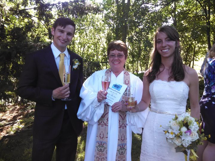 A post wedding toast with Abby and Nate at The Inn at Valley Farms in Walpole, NH.