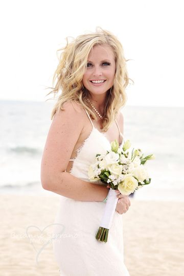 Bride on beach photography