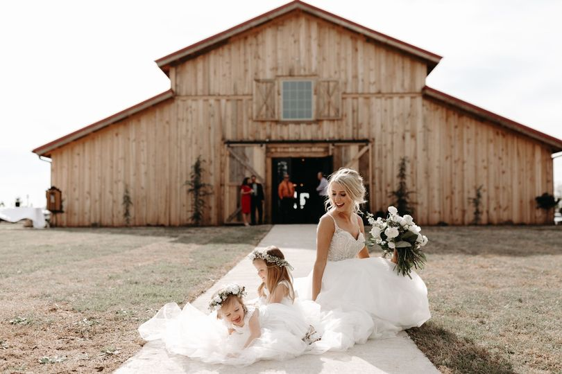 Bride and Flower Girls