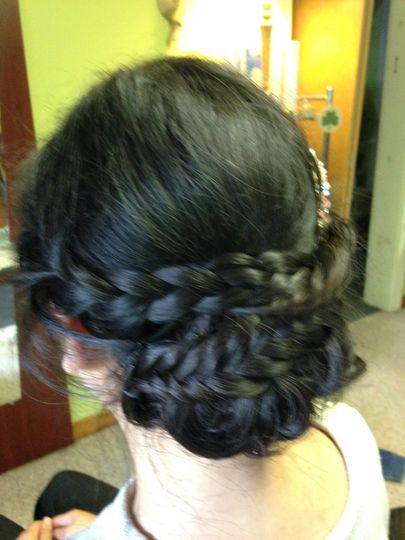 Greek hairstyle