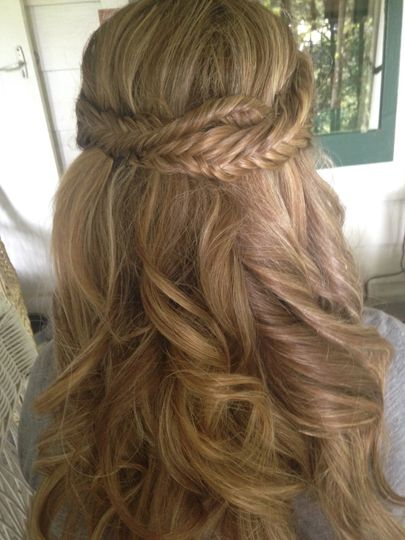Braided half pony