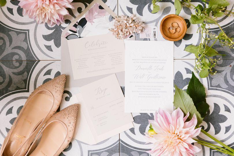 Letterpress printed