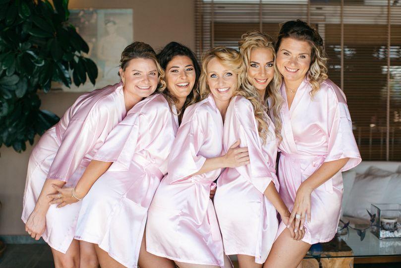 Stunning bridesmaids in Crete