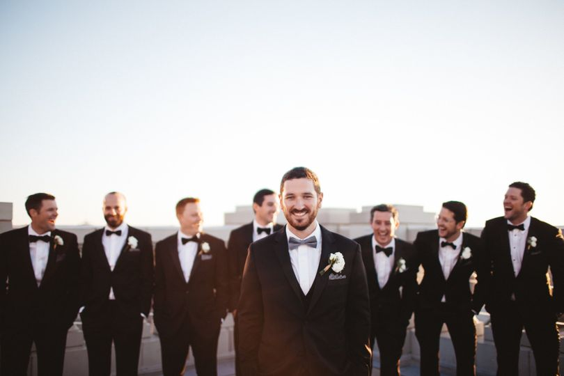 The groom with his groomsmen (Owl and Anchor Studios)