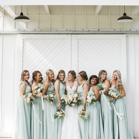 An excited bridal party(Owl and Anchor Studios)