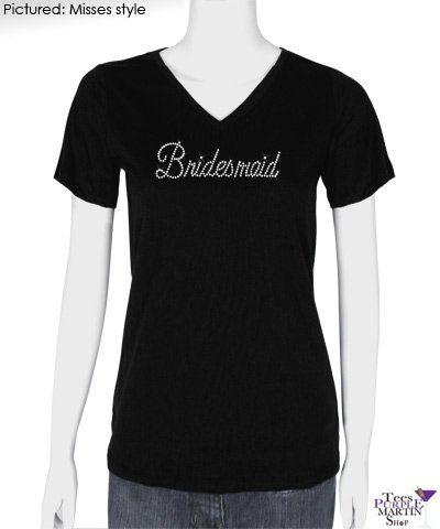 Bridesmaid Rhinestone T-Shirt