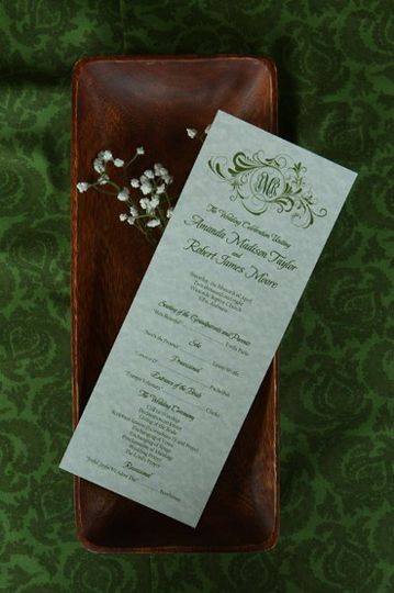 Tea-length wedding program is perfect for those who like to keep it simple.  The price includes your...