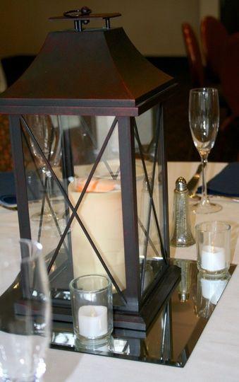 Candle lantern centerpiece
