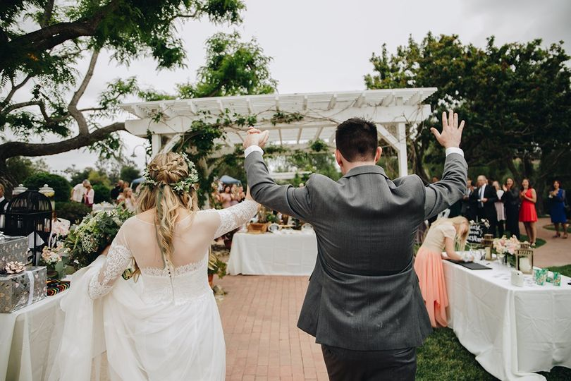 Newlyweds' entrance