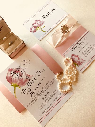 Romance wedding invitation collection