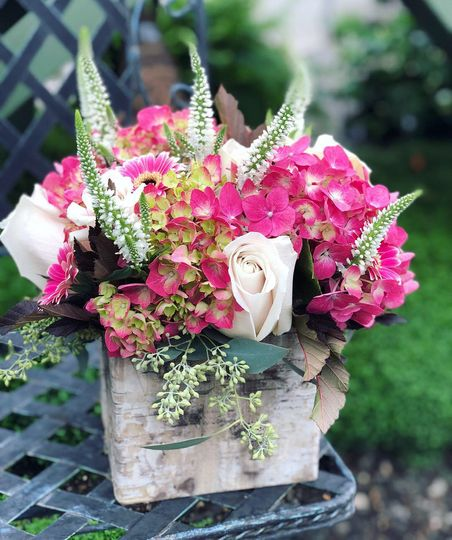 Boxed floral centerpiece