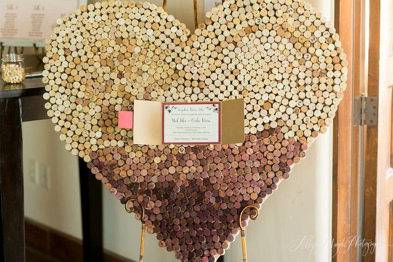 The heart decor