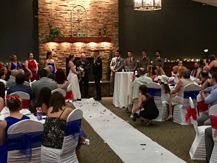 Patriotic Wedding Ceremony