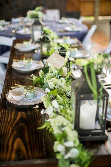 Close up tablescape