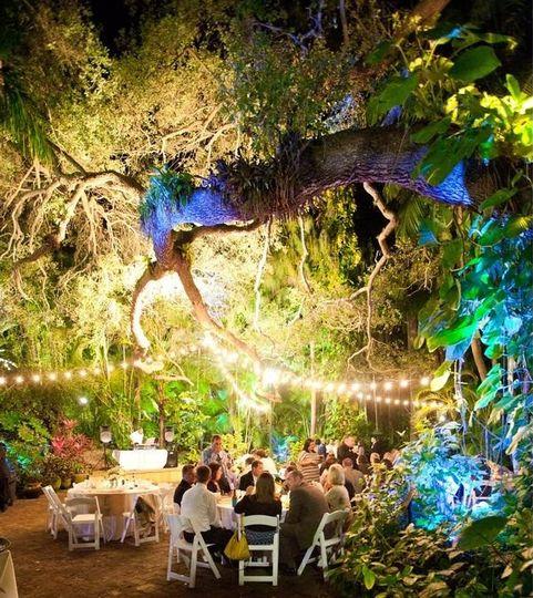 Oak Pavilion Reception at night