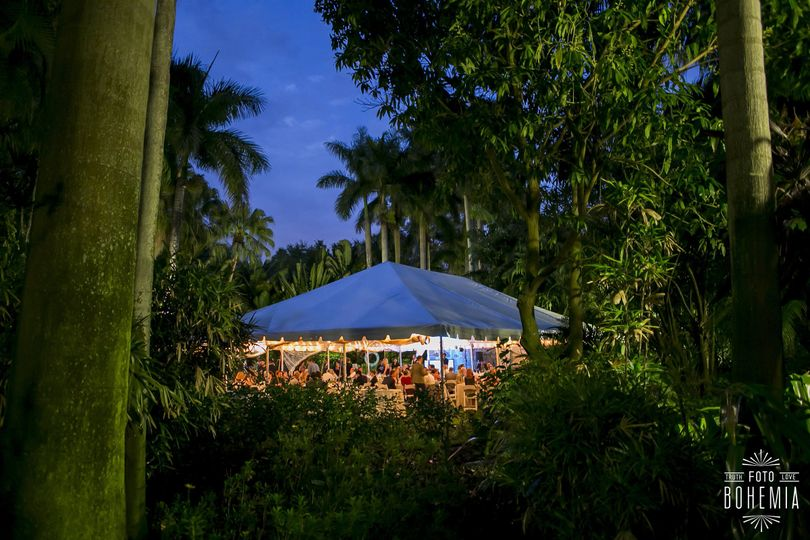 Tent Reception up at night