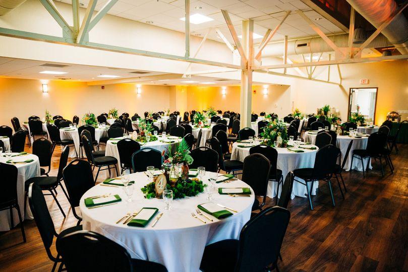 Indoor garden room reception