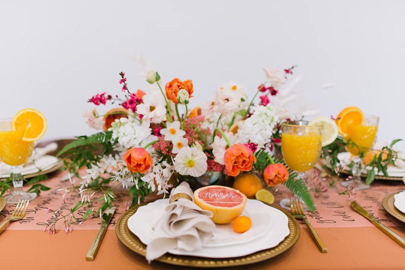Colorful table setting -  Moch Snyder