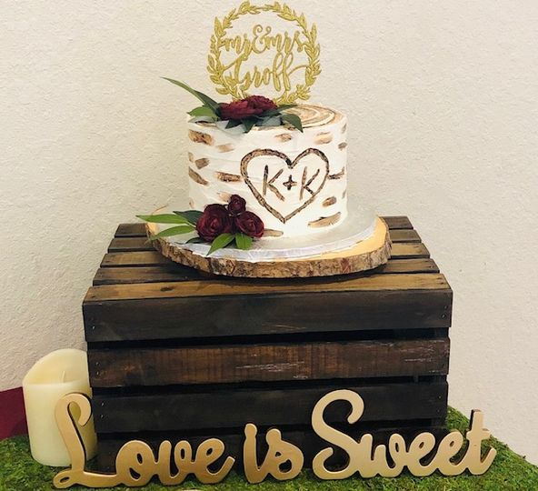 Cake for the bride and groom