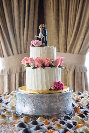 Cake with treats for guests