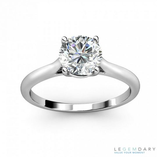 tapered basket engagement ring