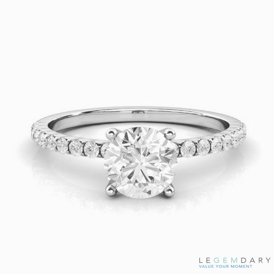 petite sidestone engagement ring
