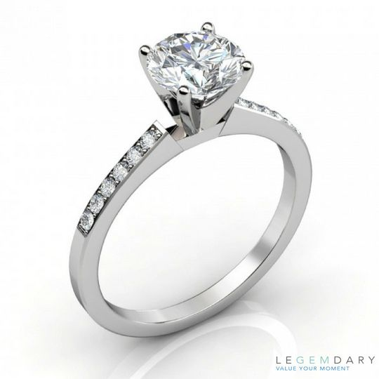 petite share prong engagement ring