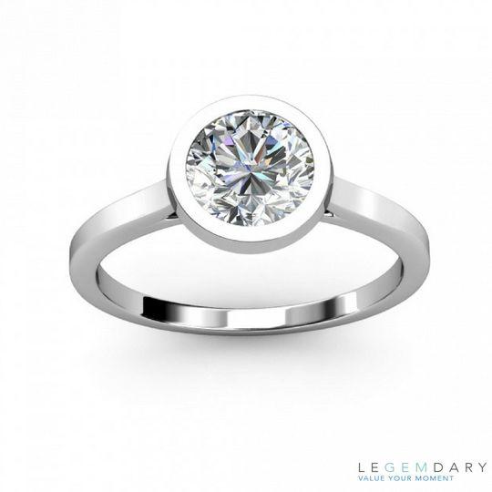 bezel setting diamond engagement ring