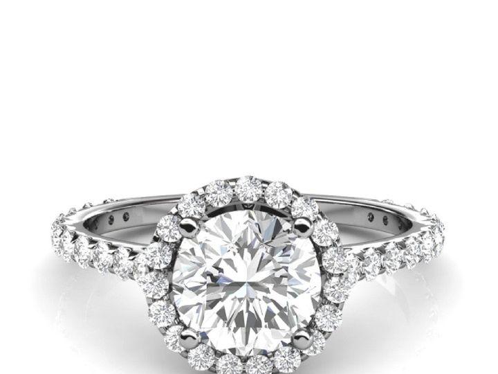Tmx 1502747100263 Round Halo Diamond Engagement Ring Asbury Park wedding jewelry