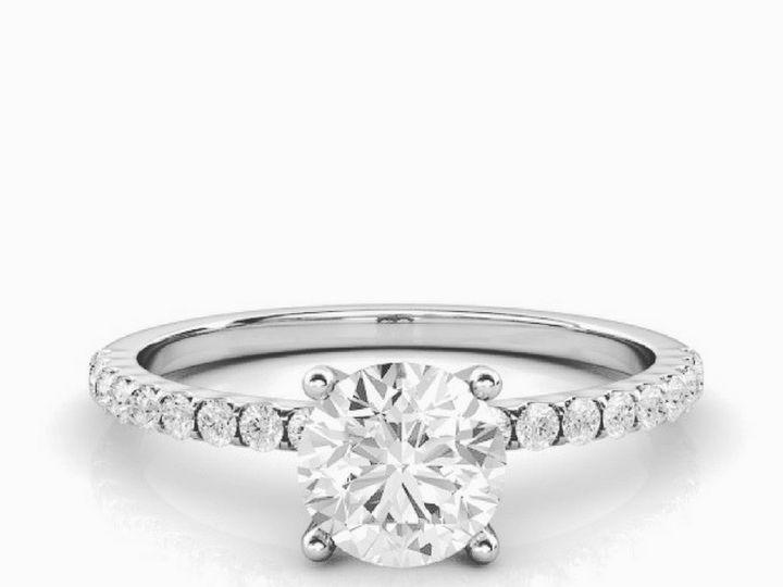 Tmx 1502747109640 Petite Sidestone Engagement Ring Asbury Park wedding jewelry