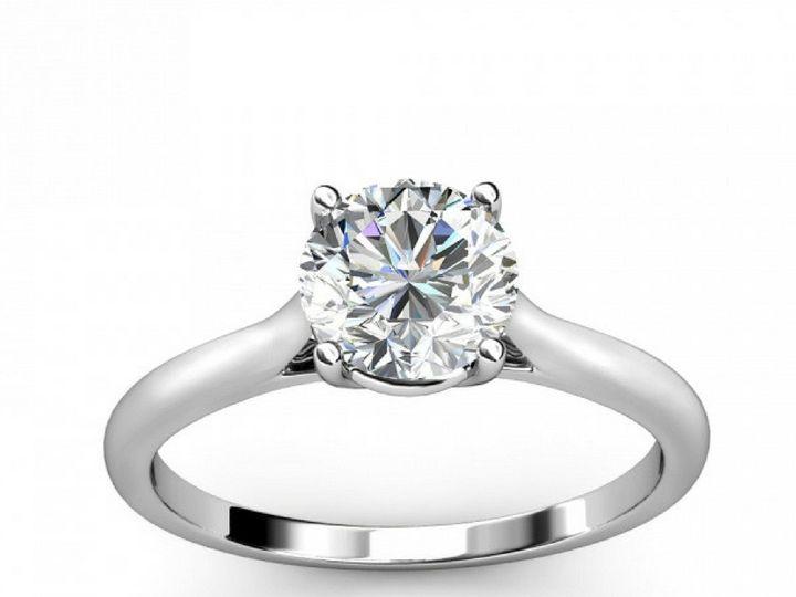 Tmx 1502747138889 Cathedral Diamond Engagement Ring Asbury Park wedding jewelry