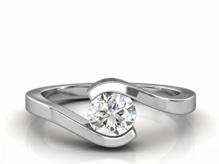 Tmx 1502747147852 Bypass Diamond Engagement Ring Asbury Park wedding jewelry
