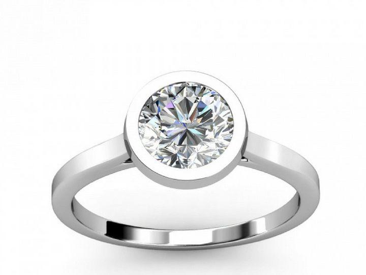 Tmx 1502747156766 Bezel Setting Diamond Engagement Ring Asbury Park wedding jewelry