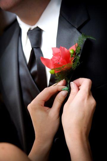 bigstock grooms wedding flower 2764059