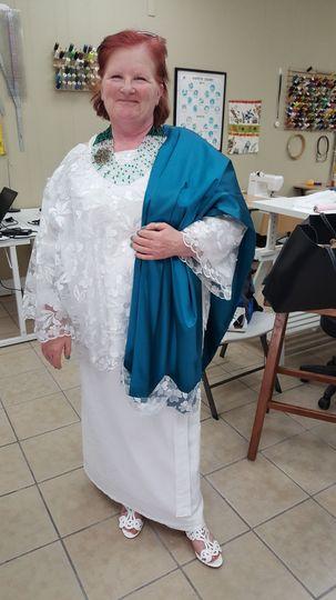 Custom African Wedding Dress