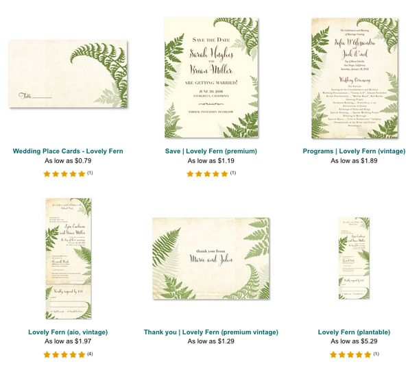 Lovely Fern collection