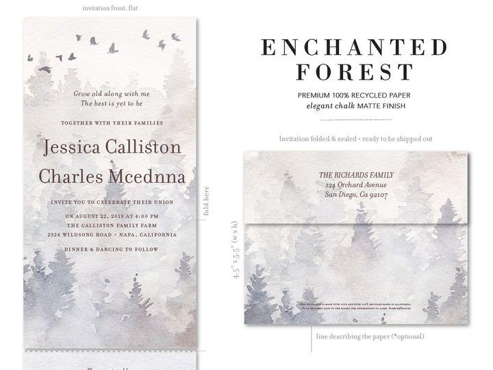 Tmx 1enchanted 51 54667 San Diego, CA wedding invitation