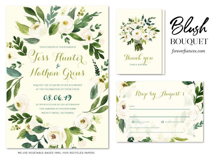 Tmx Blush Bouquet Board 51 54667 San Diego, CA wedding invitation