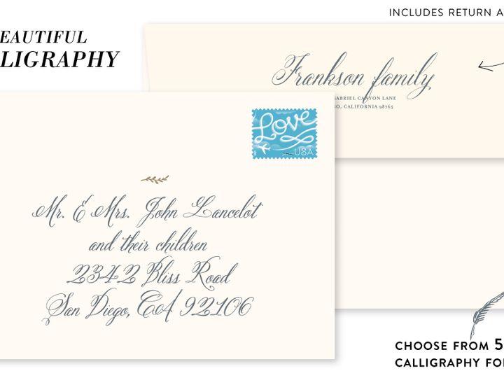 Tmx Calligraphy 51 54667 1560983602 San Diego, CA wedding invitation
