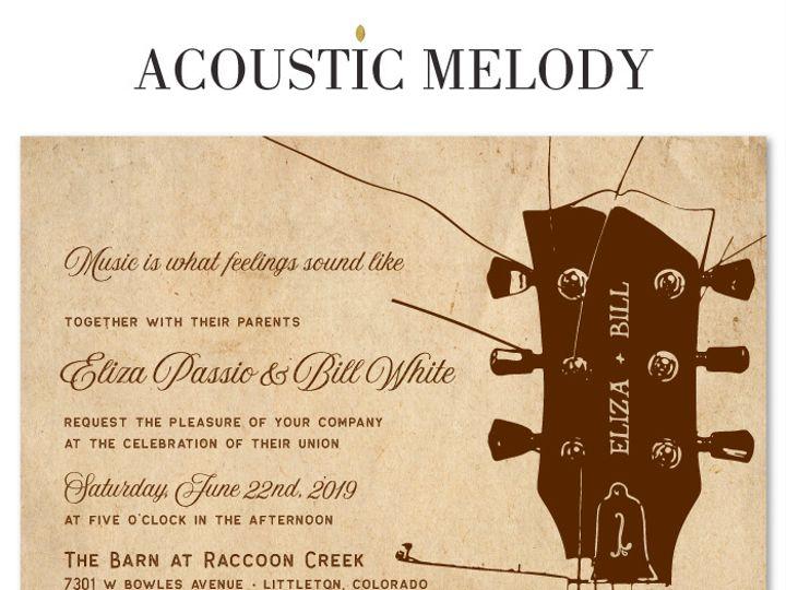 Tmx Classic Acoustic Melody Re 51 54667 San Diego, CA wedding invitation