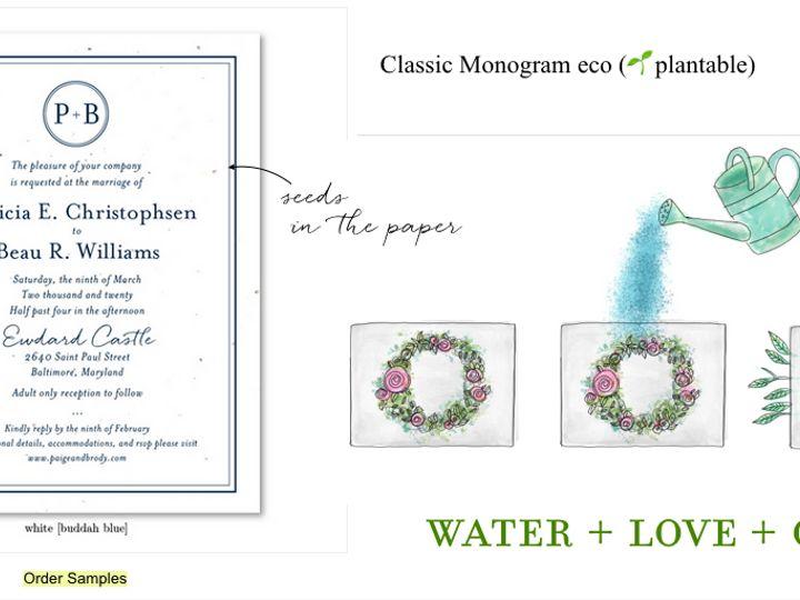 Tmx Monogram Plant Me 51 54667 San Diego, CA wedding invitation