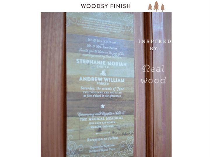 Tmx Woodsy Finish Rustic Ff 51 54667 San Diego, CA wedding invitation