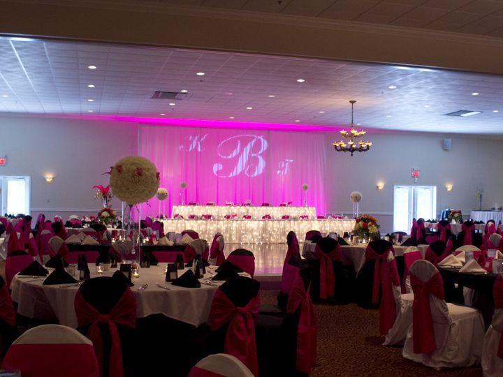 Tmx 1450370416558 Reception Area Black Pink White The Falls Columbia, IL wedding venue