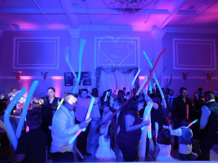 Party favors bring the energy up on the dance floor