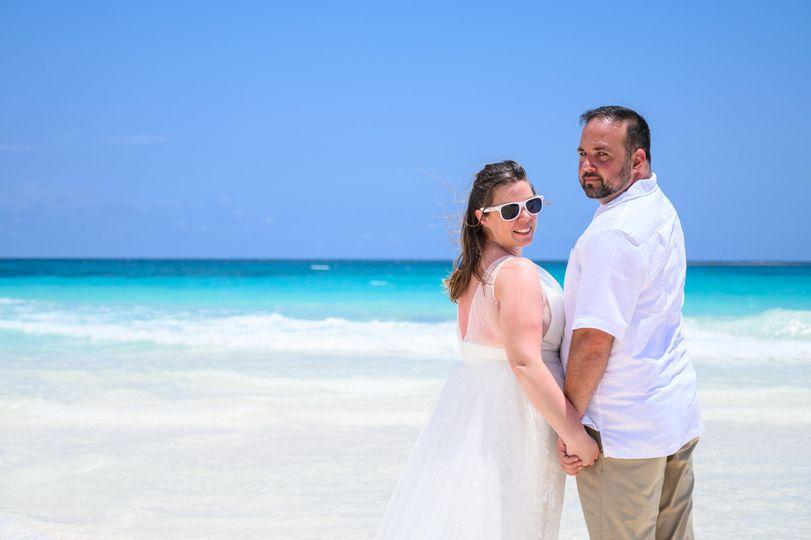Our Beach Wedding Couple