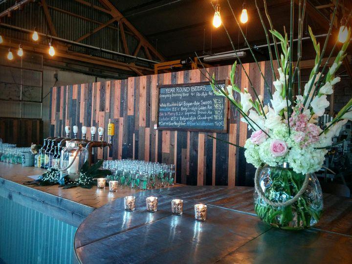 Beautiful wooden bar