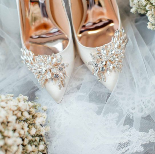 The wedding shoes - Rose & Belle Photography