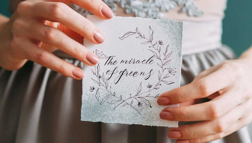 Heartfelt writing and calligraphy - Rose & Belle Photography